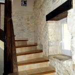 stairs made of matured genuine oak