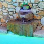la fontaine de la piscine