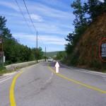sortie de la route de Rochegude
