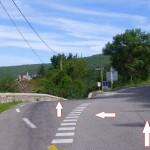 entrée de la route de Tharaux