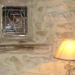 vitrail et lampe